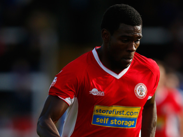 Kayode Adejayi of Accrington in action during the Sky Bet League Two match between Hartlepool United and Accrington Stanley at Victoria Park on September 14, 2013