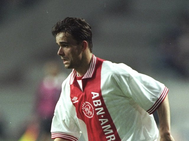 Marc Overmars in action for Ajax on April 09, 1997.