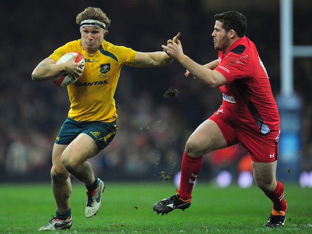 Wallabies player Michael Hooper in action during the International match between Wales and Australia Wallabies at Millennium Stadium on November 30, 2013