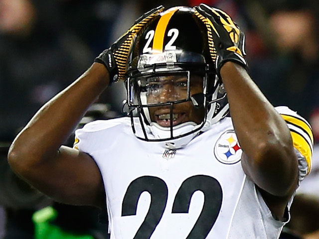 William Gay of the Pittsburgh Steelers reacts after an incomplete pass against the New England Patriots at Gillette Stadium on November 3, 2013
