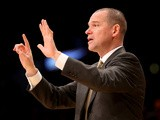 Sacramento Kings head coach Michael Malone signals during the game against Los Angeles Lakers on November 24, 2013