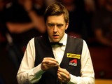 Ricky Walden of England in action against Barry Hawkins of England during the Semi Final match of the Betfair World Snooker Championship at the Crucible Theatre on May 4, 2013