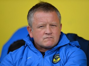 Manager Chris Wilder of Oxford United during the Sky Bet League Two match between Oxford United and Southend United at Kassam Stadium on October 05, 2013