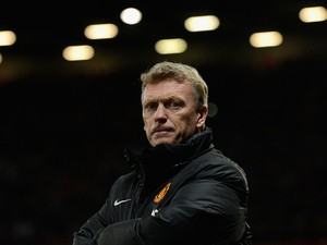 Manchester United manager David Moyes on the touchline during the match against Everton on December 4, 2013