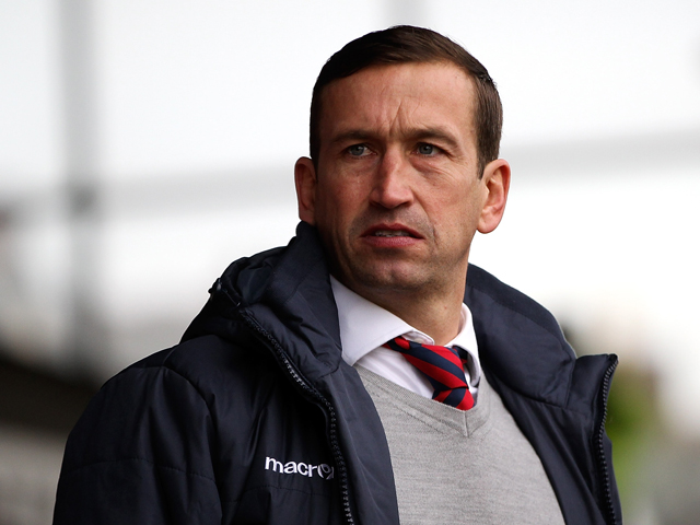 Newport manager Justin Edinburgh looks on prior to the Sky Bet League Two match between Newport County AFC and Chesterfield at Rodney Parade on December 01, 2013