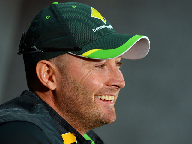 Australian captain Michael Clarke smiles during a press conference on the eve of the second cricket Test match against England, in Adelaide on December 4, 2013