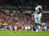 Reshad Jones #20 of the Miami Dolphins walks on the field in the first quarter against the Tampa Bay Buccaneers at Raymond James Stadium on November 11, 2013