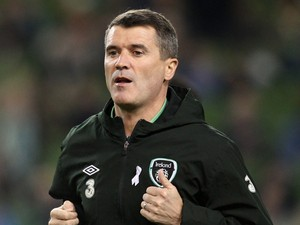 Republic of Ireland's assistant manager Roy Keane walks on the touchline before kick off of the international friendly football match between Republic of Ireland and Latvia at the Aviva Stadium in Dublin, Ireland on November 15, 2013