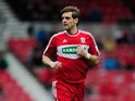 Middlesbrough player Jonathan Woodgate in action during the npower Championship match between Middlesbrough and Brighton & Hove Albion at Riverside Stadium on April 13, 2013
