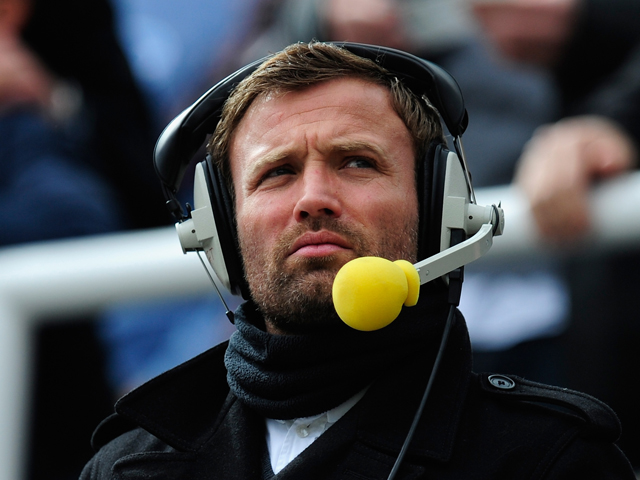 Ex Sunderland player and radio pundit Michael Gray looks on before the Barclays Premier League match between Newcastle United and Sunderland at St James' Park on April 14, 2013