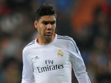 Carlos Casemiro of Real Madrid in action during the Copa del Rey, Round of 32 2nd leg match between Real Madrid and Olimpic de Xativa on December 18, 2013