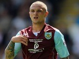 Burnley right-back Kieran Trippier looks on during a Championship match on August 3, 2013