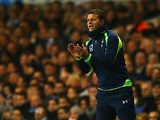 Tottenham head coach Tim Sherwood on the touchline during the Premier League match against Stoke on December 29, 2013