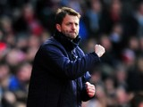 Tottenham Hotspur's English interim manager Tim Sherwood celebrates during the English Premier League football match between Southampton and Tottenham Hotspur at St Mary's Stadium in Southampton, southern England on December 22, 2013