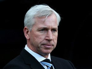 Newcastle manager Alan Pardew on the touchline during the match against Arsenal on December 29, 2013