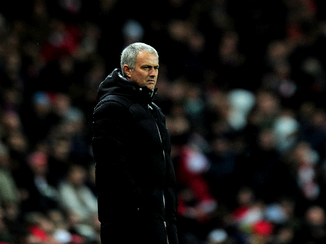 Jose Mourinho manager of Chelsea looks on during the Barclays Premier League match between Arsenal and Chelsea at Emirates Stadium on December 23, 2013
