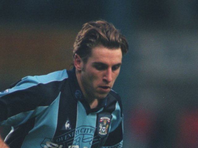 Darren Huckerby in action for Coventry City on January 01, 1998.