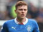 Lewis MacLeod of Rangers looks on during the pre season friendly match between Derby County and Rangers at iPro Stadium on August 2, 2014