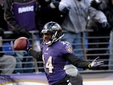 Cornerback Corey Graham #24 of the Baltimore Ravens after making an interception against the New York Jets in the fourth quarter at M&T Bank Stadium on November 24, 2013