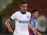 Ishak Belfodil of Inter during the Serie A match between Calcio Catania and FC Internazionale Milano at Stadio Angelo Massimino on September 1, 2013