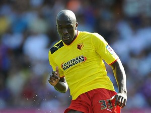 Watford's Nyron Nosworthy in action against Crystal Palace during their Championship match on August 18, 2012