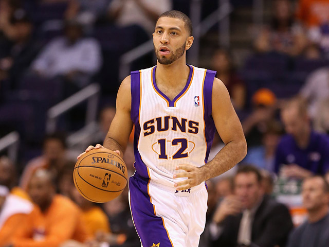 Phoenix Suns' Kendall Marshall in action against Portland Trail Blazers on October 12, 2012