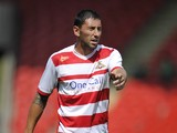 Billy Paynter of Doncaster Rovers during the Pre Season Friendly match between Doncaster Rovers and Motherwell at the Keepmoat Stadium on July 13, 2013
