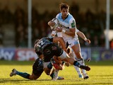 Sean Maitland of Glasgow in action during the Heineken Cup match between Exeter Chiefs and Glasgow Warriors at Sandy Park on January 11, 2014
