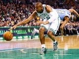 Boston Celtics' Leandro Barbosa in action against Denver Nuggets on February 10, 2013