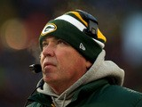 Head coach Mike McCarthy of the Green Bay Packers looks on against the San Francisco 49ers during their NFC Wild Card Playoff game at Lambeau Field on January 5, 2014