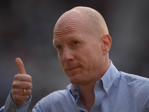 Bayern Munich's sports director Matthias Sammer gestures during the pre-season football match Hansa Rostock vs FC Bayern Munich on July 14, 2013