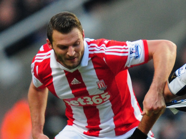 Erik Peters during the Barclays Premier League match between Newcastle United and Stoke City on December 26, 2013