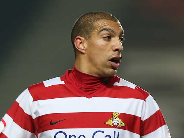 James Harper of Doncaster Rovers in action during the npower League One match between MK Dons and Doncaster Rovers at Stadium MK on March 5, 2013