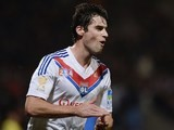 Lyon's French midfielder Yoann Gourcuff celebrates after scoring a goal during the French League Cup quarter final football match against Olympique de Marseille on January 15, 2014