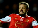 Pablo Daniel Osvaldo of Southampton is faced by Steve Harper of Hull City during the Barclays Premier League match on November 9, 2013
