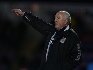 Northampton Town caretaker manager Andy King gives instructions during the Sky Bet League Two match between Northampton Town and York City at Sixfields Stadium on January 11, 2014