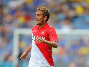 Jakob Poulsen of Monaco in action during the the pre season friendly match between Leicester City and Monaco at The King Power Stadium on July 27, 2013
