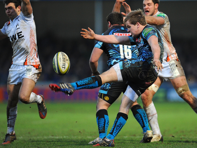 Stuart Townsend of Exeter Chiefs in action during the LV= Cup match between Exeter Chiefs and Ospreys at Sandy Park on January 25, 2014