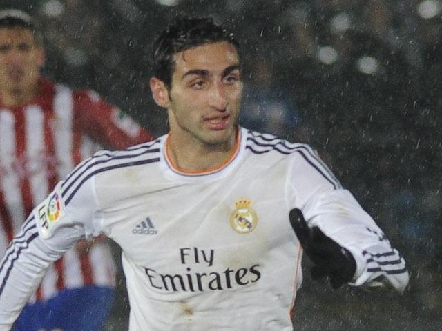 Jose Rodriguez of Real Madrid Castilla in action during the Segunda Division match against Sporting de Gijon on January 18, 2014