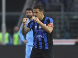 German Denis of Atalanta BC celebrates after scoring the opening goal during the Serie A match between Atalanta BC and SSC Napoli at Stadio Atleti Azzurri d'Italia on February 2, 2014
