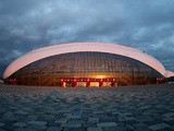 A general view of the Bolshoy Ice Dome prior to the Sochi 2014 Winter Olympics at the Olympic Park on February 1, 2014 in Sochi, Russia.