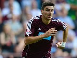 Hearts' Callum Paterson in action against Dundee during their Scottish Premier League match on September 9, 2012