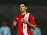 Jack Baldwin of Hartlepool United in action during the FA Cup with Budweiser Second Round Replay between Coventry City and Hartlepool United at Sixfields Stadium on December 17, 2013