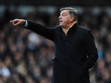 Sam Allardyce manager of West Ham United signals during the Barclays Premier League match between West Ham United and Swansea City at Boleyn Ground on February 1, 2014