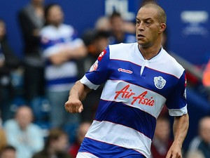 QPR's Bobby Zamora in action against Ipswich during their Championship match on August 17, 2013