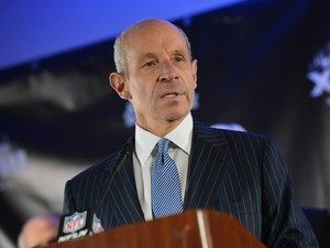 Jonathan Tisch, co-owner of the New York Giants and Co-Chairman of the NY/NJ Super Bowl Host Committee attends the Super Bowl XLVIII Week Opening Press Conference at Super Bowl XLVIII Media Center on January 27, 2014