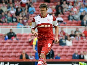 Middlesbrough's Lukas Jutkiewicz in action against Accrington Stanley during their League Cup first round match on August 6, 2013