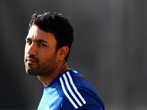 Ravi Bopara of England looks on during nets practice session at Ageas Bowl on August 28, 2013