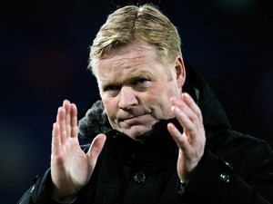 Feyenoord Manager, Ronald Koeman thanks the fans after victory in the Eredivisie match between Feyenoord and VVV Venlo at De Kuip on April 5, 2013
