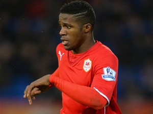 Wilfried Zaha of Cardiff City in action during the Barclays Premier League match between Cardiff City and Norwich City at Cardiff City Stadium on February 1, 2014